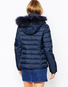 Image 2 ofJack Wills Padded Coat With Faux Fur Trim Hood