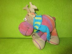 The reindeer Reindeer, Dinosaur Stuffed Animal, Baby Shoes, Toys, Handmade, Animals, Animales, Hand Made, Animaux