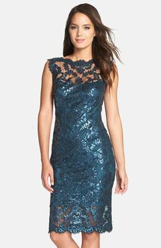 LOVE LOVE LOVE everything about this dress. The color is stunning. I love the elegance of lace and the glam of sequins. Absolutely beautiful.