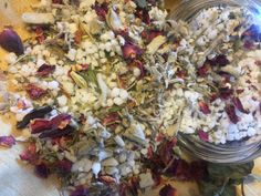 Bath Salt With Dried Sage Rose Petals Rosemary and by WWAlchemy
