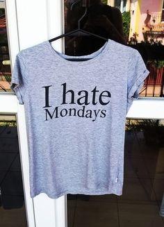 Kup mój przedmiot na #vintedpl http://www.vinted.pl/damska-odziez/koszulki-z-krotkim-rekawem-t-shirty/14355608-t-shirt-i-hate-mondays-house-szara-idealna-na-lato