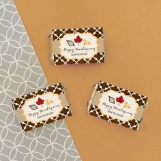 Personalized Thanksgiving Mini Candy Bar Wrappers