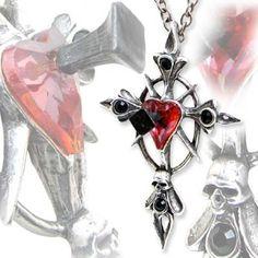 "Collier Alchemy Gothic ""Betrayal Cross"""