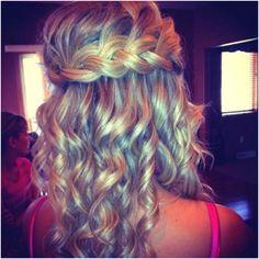 Bride or bridesmaids hair style