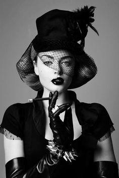 Noir et blanc vintage