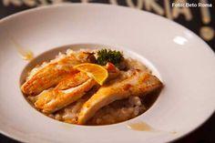 Carambola - Risoto de Radicchio com escalopines de frango ao mel de alecrim e limão galego (almoço)