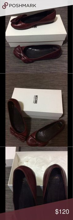 MOSCHINO red wine shoes 6 I used this flats a lot of times, love them very comfy but I'm cleaning my closet so I decide to share this love Moschino Shoes Flats & Loafers