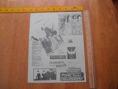 1980s ORIGINAL Punk Rock concert poster U.K. Subs 7Seconds Sluglords TSOL