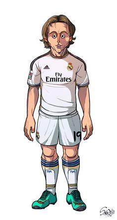 Modric FC Barcelona / Real Madrid by Sakiroo Choi, via Behance