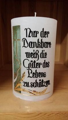 Haussegen Candle Jars, Candles, Shot Glass, Tableware, House Blessing, Candle Art, Communion, Random Stuff, True Words