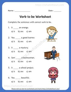 Verb To Be Worksheets English Grammar For Kids, Learning English For Kids, English Lessons For Kids, English Worksheets For Kids, English Reading, English Words, English Vocabulary, English Activities, English Class