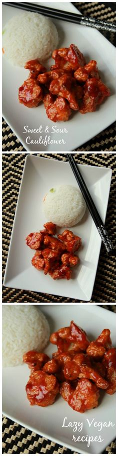 Most Delicious Sweet & Sour Cauliflower Chinese Recipe {Vegan}