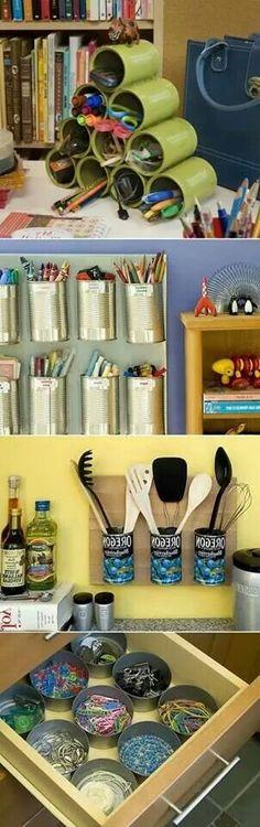 Idées diy boîtes de conserve... ...