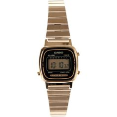 Casio Vintage Retro Gold Watch ($52) ❤ liked on Polyvore featuring jewelry, watches, accessories, gold, women, vintage wristwatches, gold jewelry, vintage retro jewelry, vintage jewellery and gold watches