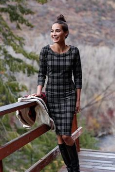Plaid Cupid Dress