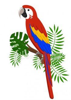 Art And Illustration, Parrot Cartoon, Vogel Quilt, Bird Quilt Blocks, Parrot Drawing, Jungle Decorations, Diy Embroidery Patterns, Kids Art Class, Animal Projects