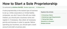 How to Start a Sole Proprietorship. A sole proprietorship is the easiest type of business to set up.