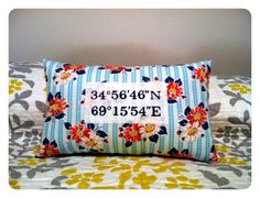 Long distance romance or someone you love in the service would love to receive this pillow.