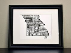 Cities of MISSOURI Collage Print OR Customize and by bandaprints, $12.50