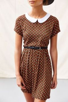 MUST HAVE THIS!!! One & Only X Urban Renewal Collared Babydoll Dress