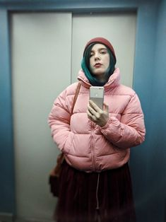 Green Hair, Archive, Winter Jackets, Fashion, Winter Coats, Moda, Winter Vest Outfits, Fashion Styles, Fashion Illustrations