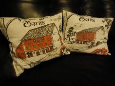 vintage tea towel pillows