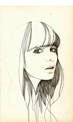 drawings of people Drawing Sketches, Pencil Drawings, Art Drawings, Face Sketch, Sketching, Art And Illustration, Illustration Pictures, Fashion Illustrations, Painting & Drawing