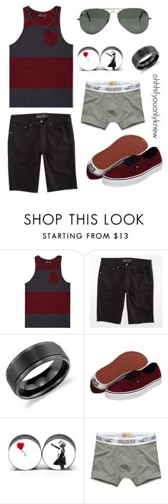 """""""Untitled #118"""" by ohhhifyouonlyknew ❤ liked on Polyvore featuring Retrofit, RSQ, Ray-Ban, Blue Nile, Vans, Hollister Co., casual, tank top, ohhhifyouonlyknew and tomboy"""