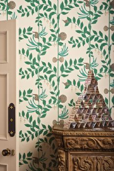 Cole & Son -  Whimsical Collection - Secret Garden Feature Wallpaper, Wallpaper Decor, Wallpaper Online, Tree Wallpaper, Wallpaper Ideas, Dark Green Wallpaper, Cole And Son Wallpaper, Shabby Chic Tapete, Cole Son