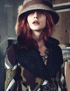 Caterina Ravaglia by Andreas Öhlund (Belle Époque - Cover Denmark November 2012) 20's hat
