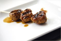 Yakitori (Grilled Chicken Meat Balls) recipe - These are juicy, yummy, and definitely my favorite and a must-have item at yakitori restaurants.  #japanese #chicken