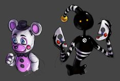 Helpy and Security Puppet : fivenightsatfreddys Five Nights At Freddy's, Human Puppet, Marionette Fnaf, Fnaf 4, Freddy 's, Horror Video Games, Roblox Pictures, Fnaf Characters, Freddy Fazbear