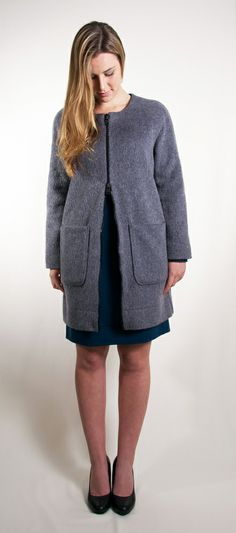 Mohair Coat - Silk Lined www.janellehinch.co.nz 'The Lucky Ones' Winter/Spring Collection from Janelle Hinch