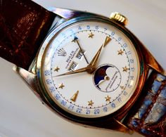 a classic rolex triple-date moonphase ref. 6062.  amazing.