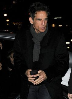 Ben Stiller had wrapped up warm for his night out with his co-stars