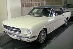 The first Ford Mustang rolled off of the Ford assembly line on this day (March 9) in 1964. It was a Wimbledon White convertible.