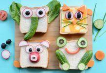 Sandwiches mit kreativer Deko für Kindergeburtstag - Animal Snacks For Kids That Are YUM And FUN - Toddler Meals, Kids Meals, Fun Sandwiches For Kids, Breakfast Sandwiches, Picnic Sandwiches, Fruits Decoration, Animal Snacks, Food Art For Kids, Boite A Lunch