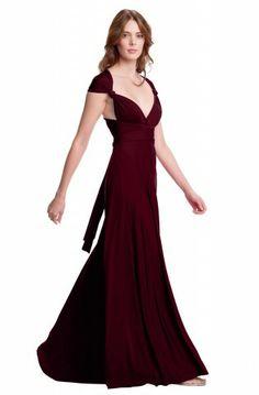 eda0f283095 Sakura Burgundy Wine Maxi Convertible Dress - Shop By Color Purple Maxi