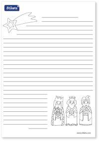 Stikes Printables Navidad Carta a los Reyes Magos