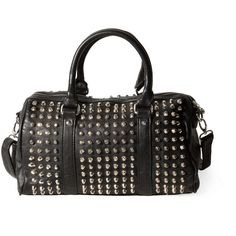 Pull & Bear Studded Bowling Bag ($48) ❤ liked on Polyvore