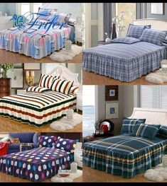"""Universe of goods - Buy """"Green And White Stripe Cotton Single Double Bed Skirt Mattress Cover Petticoat Twin Full Queen Bed Skirts Bedspread bedding sets"""" for only USD. Fold Bed Sheets, Flat Sheets, Designer Bed Sheets, Bed Protector, Lit Simple, Mattress Covers, Bed Covers, Make Your Bed, Bedroom Styles"""