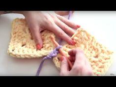 Háčkování Jak to udělat s plochým skluzem Stitch Join - Crochet Zig Zag Crochet Zig Zag, Joining Crochet Squares, Slip Stitch Crochet, Crochet 101, Crochet Gratis, Crochet Videos, Single Crochet, Easy Crochet, Crochet Stitches
