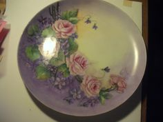 Vintage Large Hand Painted Platter - Wilma Young - 1960  - signed by Artist by TWISTEDSIGNSBYDESIGN on Etsy