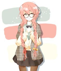 anime girl with glasses