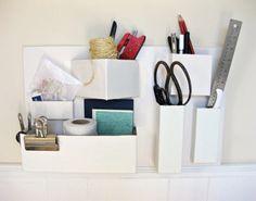 Awesome DIY Cardboard Organizer   Shelterness