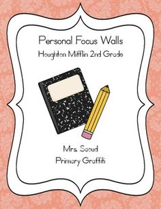 This 68 page freebie file aligns with Houghton Mifflin Reading.  I created the personal focus wall for students to add to their weekly folders.  Th...