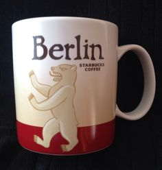 Starbucks Berlin Mug Bear Icon Germany New Coffee Red Berliner Albrecht USA Ship #Starbucks