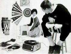 with Vinyl record Retro Record Player, Record Players, Vinyl Sleeves, Vintage Birthday Cards, Vinyl Junkies, Phonograph, Vintage Vinyl Records, Silver Age, Vinyl Art