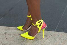 NEW YORK FASHION WEEK - SEPTEMBER 2013 Shot by Nathan Kula Neon Outfits, September 2013, Reiss, Fashion Brand, Stiletto Heels, Women Wear, Pumps, York, Stylish