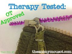We test a technique for threading zipper practice in occupational therapy. Learn an easy way to teach children how to thread their zipper on their own! Occupational Therapy Assistant, Occupational Therapy Activities, Physical Activities, Work Activities, Activity Ideas, Preschool Activities, Gross Motor Activities, Gross Motor Skills, Self Help Skills